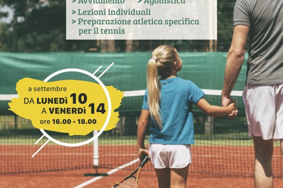 Corsi di tennis per bambini e ragazzi dai 5 ai 18 anni