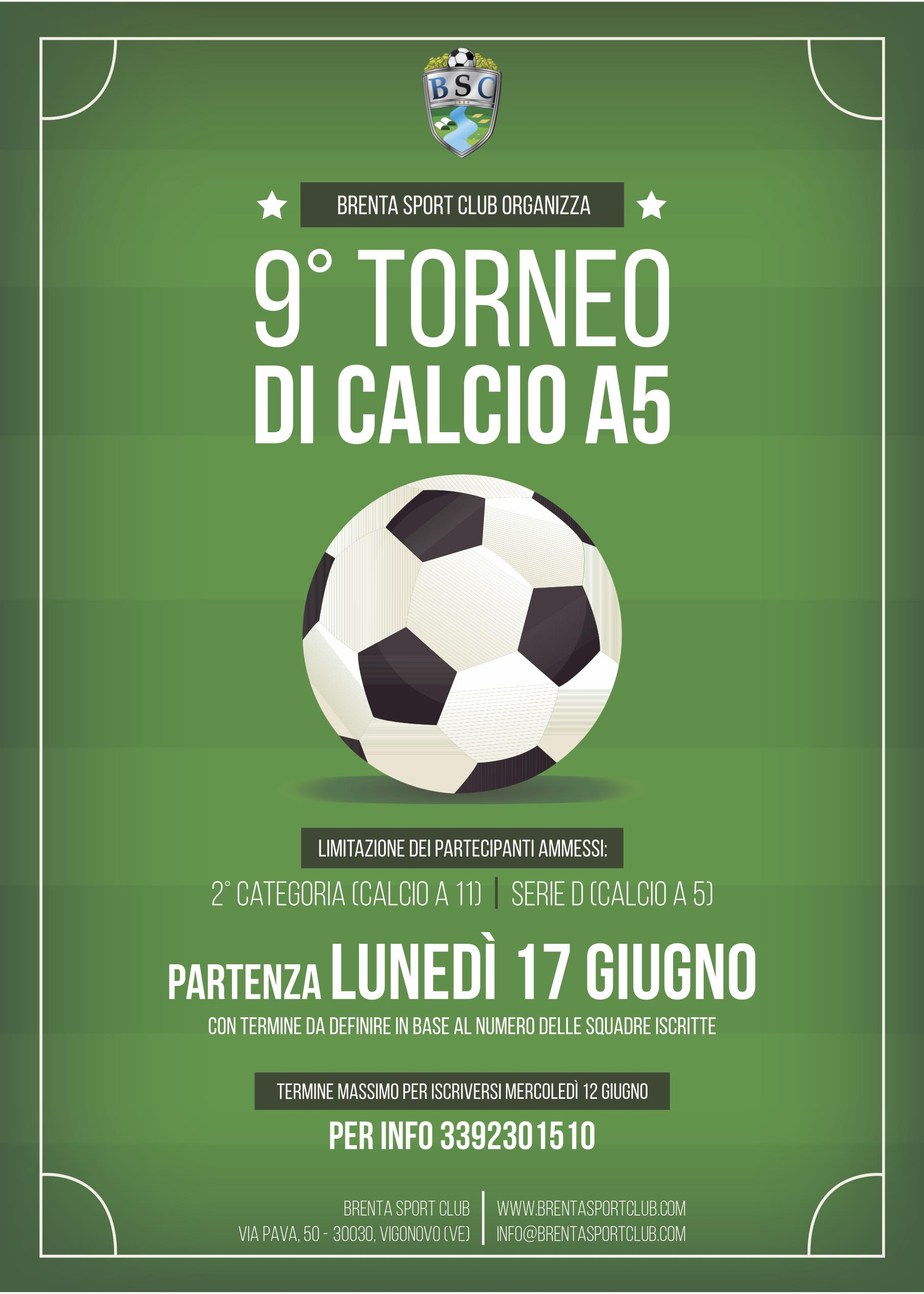 9° Torneo di Calcio a 5