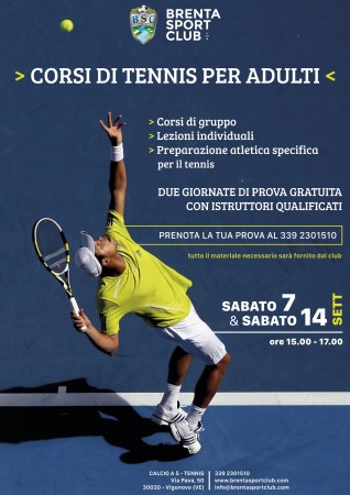 Open Day corsi tennis adulti